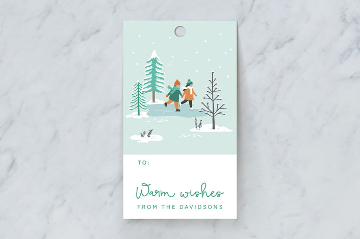 """""""WinterLand"""" - Gift Tags in Aqua by Sharon O.."""