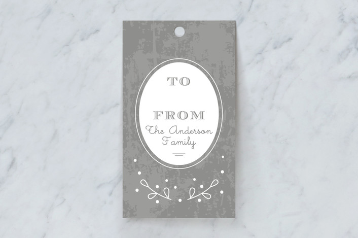 """Perfect Gift"" - Gift Tags in Charcoal by Tatiana Nogueiras."