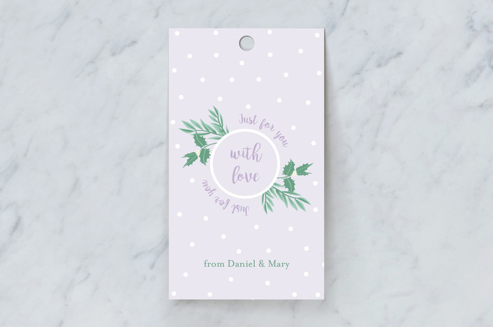 """""""Just for You"""" - Gift Tags in Grape by frau brandt."""