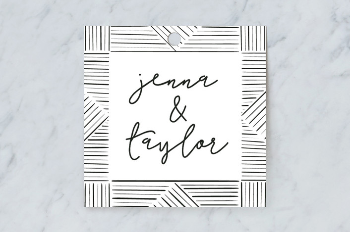 """""""line doodle photo frames"""" - Modern Gift Tags in Onyx by Leanne Friedberg."""