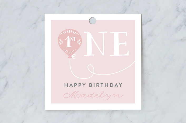 """Balloon"" - Gift Tags in Cotton Candy by Chasity Smith."