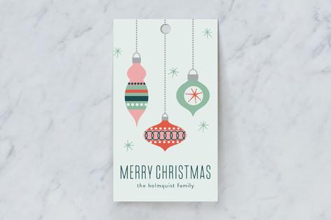 Retro Ornaments Gift Tags