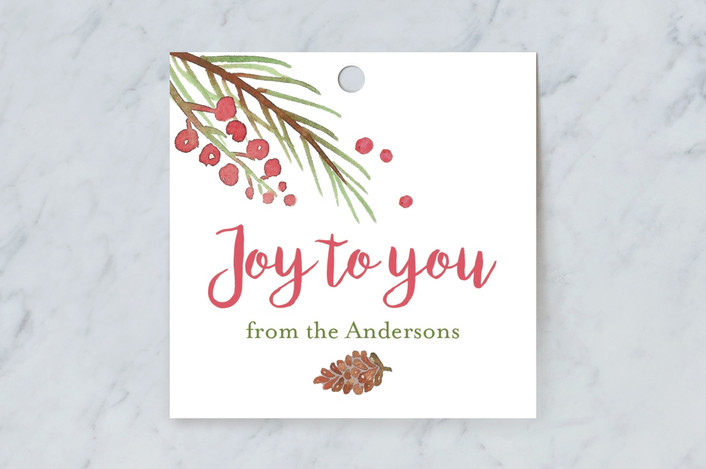 """Pine & Berry"" - Gift Tags in Snow by frau brandt."