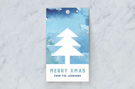 Technicolor Trees Gift Tags