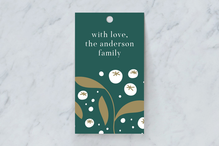 """""""Pretty Berry"""" - Gift Tags in Pine by Paper Raven Co.."""