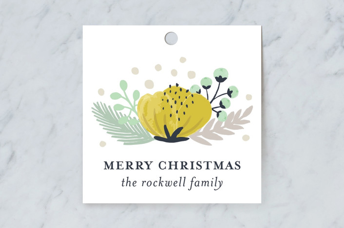 """Botanical"" - Gift Tags in Daffodil by Beth Schneider."