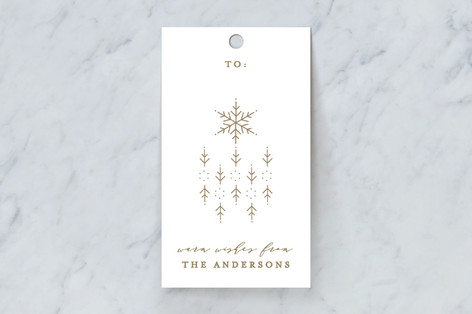 Snowflake Scatter Gift Tags