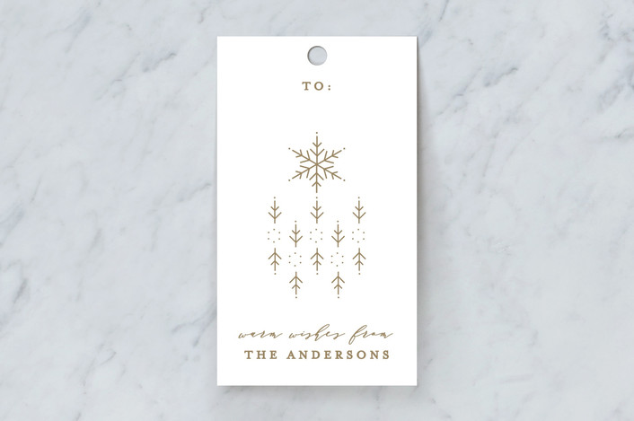 """""""Snowflake Scatter"""" - Gift Tags in Medallion by curiouszhi design."""