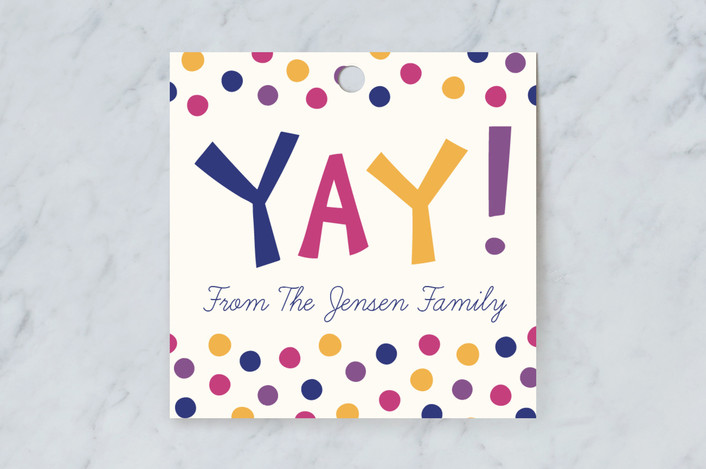 """""""Yay!"""" - Modern Gift Tags in Jewel by Kacey Kendrick Wagner."""