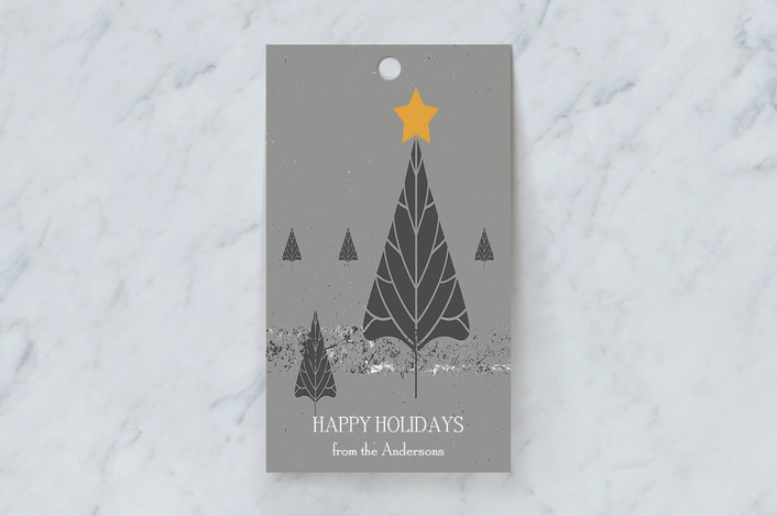 """Light Up"" - Gift Tags in Comfort Grey by Debra Pruskowski."