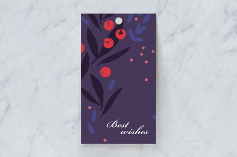 Decorative rowanberry Gift Tags