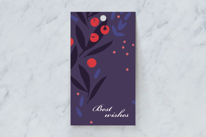 """Decorative rowanberry"" - Gift Tags in Mixed Berry by Sumak Studio."