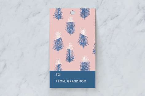 Snow Tipped Trees Gift Tags
