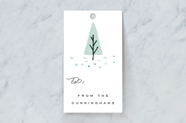 """Julgran"" - Gift Tags in Mint by Everett Paper Goods."