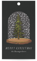 This is a black gift tag by Baumbirdy called Winter Night printing on signature.
