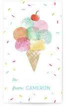 This is a blue gift tag by Shirley Lin Schneider called Sweet Desserts printing on signature.