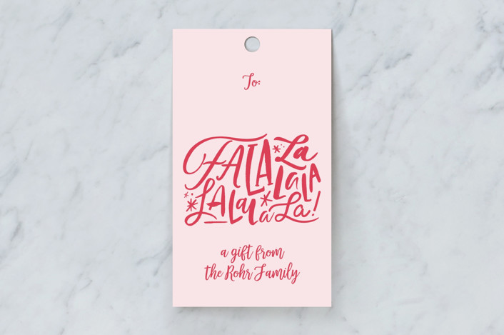 """""""little lala"""" - Gift Tags in Blush by Carrie ONeal."""