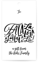 This is a black gift tag by Carrie ONeal called little lala printing on signature.