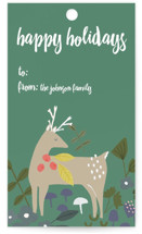 This is a green gift tag by Cindy Willingham called Bonney Woods printing on signature.