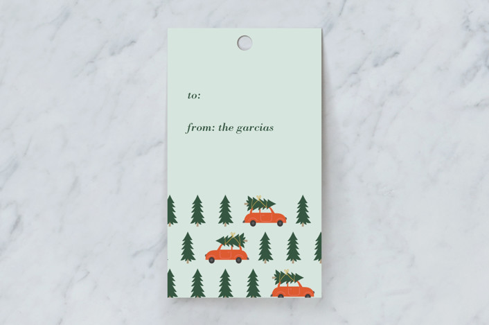 """""""tree lot"""" - Whimsical & Funny Gift Tags in Marmalade by Joyce Pinheiro."""