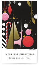 This is a black gift tag by Angela Marzuki called All Things Merry printing on signature.