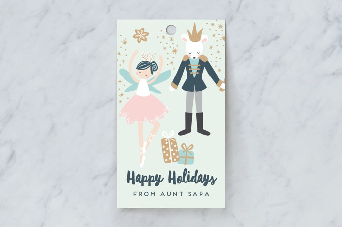 """""""nutcracker suite"""" - Whimsical & Funny Gift Tags in Mint by peetie design."""