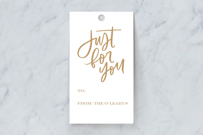 """""""Just For You Brush"""" - Gift Tags in Hot Toddy by Kristen Smith."""