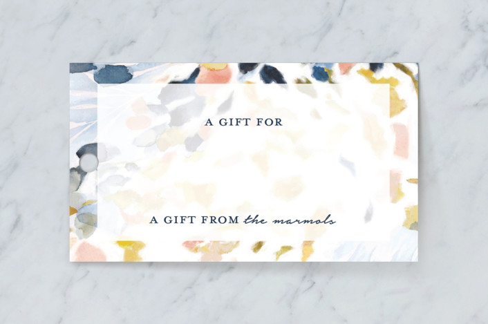"""""""Chasing Light"""" - Gift Tags in Marine Blue by Mya Bessette."""
