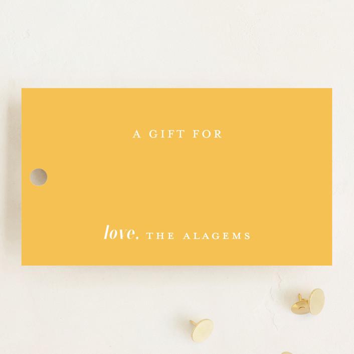 """Sunshine dots"" - Gift Tags in Sunshine by Alexandra Dzh."