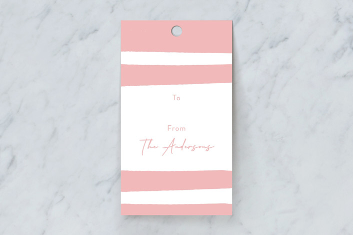 """""""Swan Pond B"""" - Gift Tags in Blush by Stacey Day."""