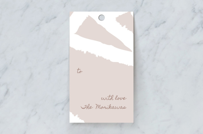 """Painted Triangles"" - Modern Gift Tags in Lavender by Alexandra Dzh."