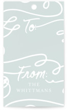This is a white gift tag by Meggy Masters called Winter Skate printing on recycled in standard.