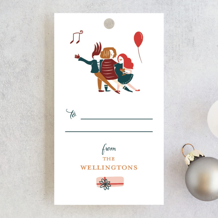 """""""Party On"""" - Whimsical & Funny Gift Tags in Holiday by Vivian Yiwing."""