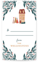 This is a colorful gift tag by Vivian Yiwing called Holiday Season printing on signature.