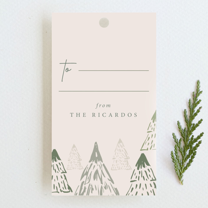 """""""Simple forest"""" - Rustic Gift Tags in Forest by Lucrecia."""