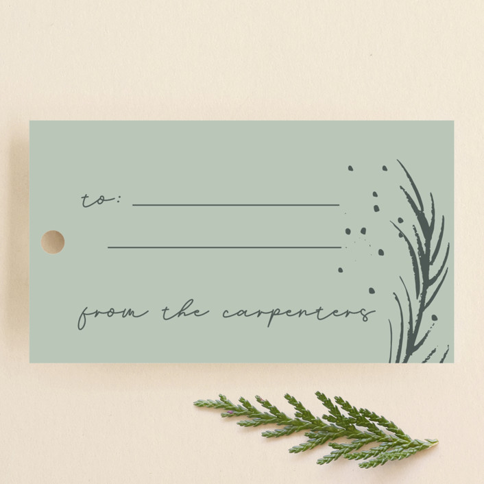 """Luxe branches"" - Gift Tags in Fern by Lucrecia."