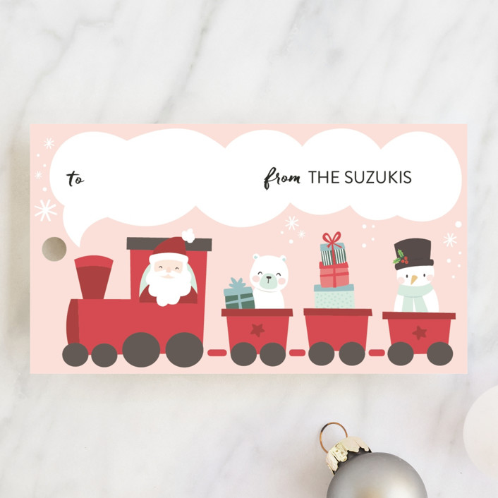 """Polar Express"" - Whimsical & Funny Gift Tags in Polar by peetie design."