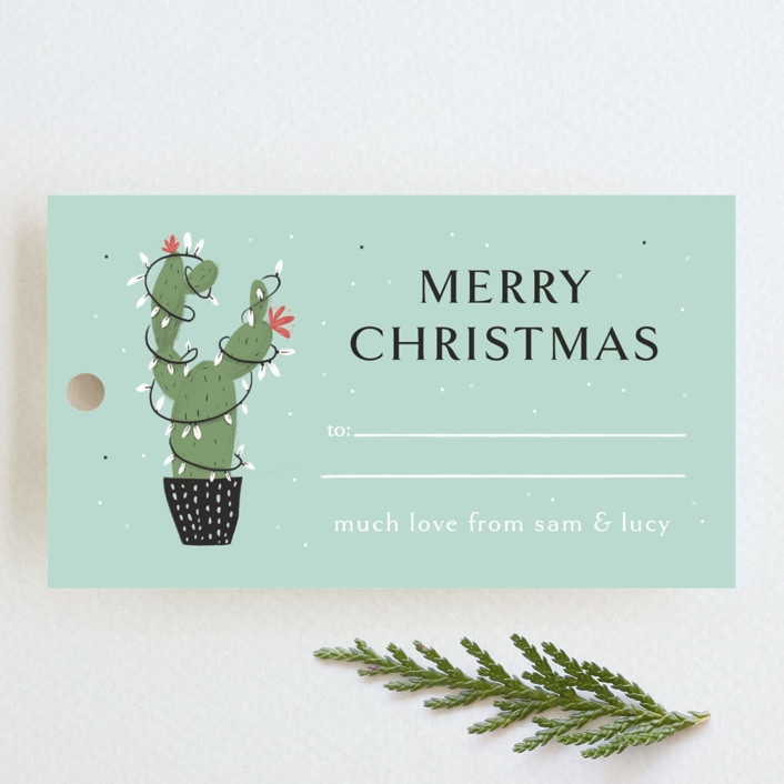 """Plant Lady"" - Whimsical & Funny Gift Tags in Mint by Lottie Made Co."