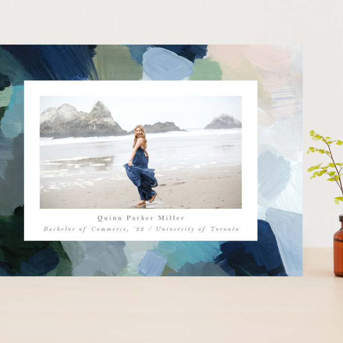 """""""abstraction"""" - Modern Grand Graduation Cards in Ocean by Nicole Walsh."""