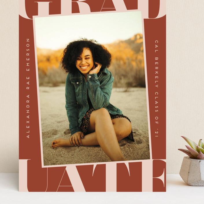 """""""Snapshot"""" - Preppy Grand Graduation Cards in Sienna by Erica Krystek."""