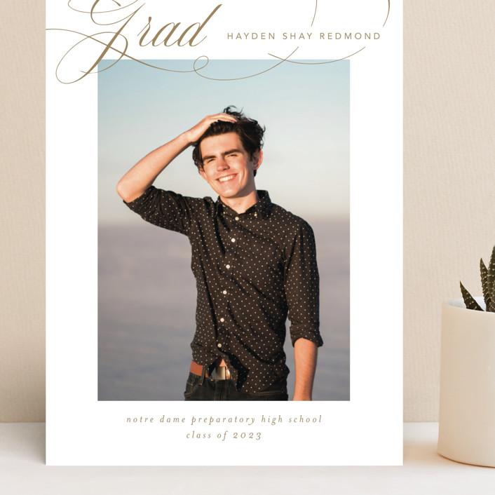 """Flourishing"" - Grand Graduation Cards in Gilded Gold by Jennifer Postorino."
