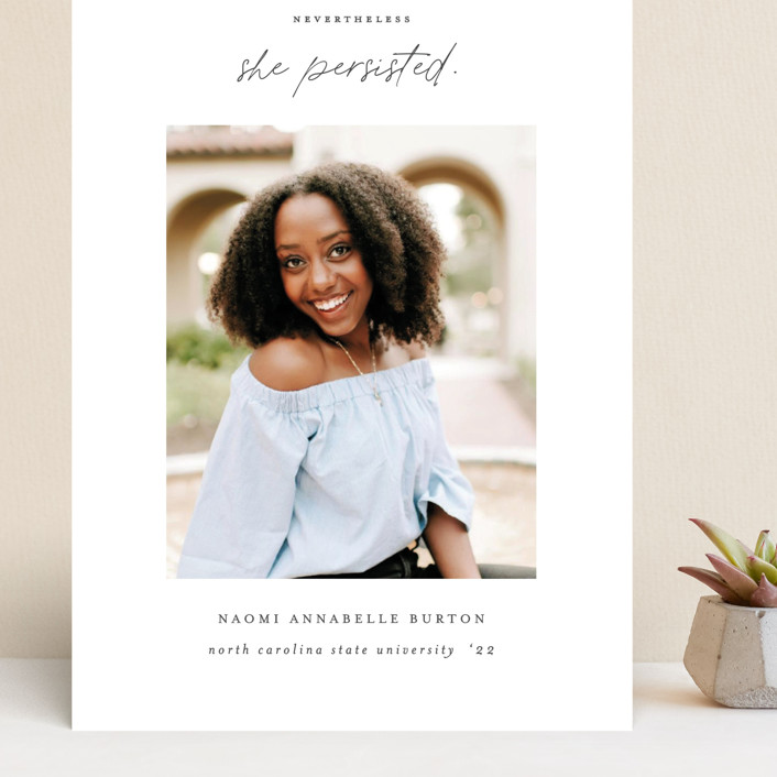 """""""She Persisted"""" - Grand Graduation Cards in Onyx by Ashley Rosenbaum."""