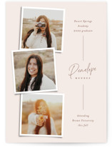 This is a beige oversized graduation card by Ekko Studio called Snapshot Collage with standard printing on signature in grand.