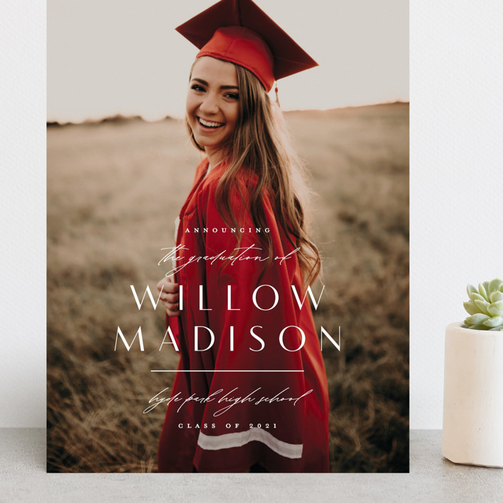 """Modern Mix"" - Grand Graduation Cards in Pearl by Lauren Chism."