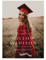 This is a white graduation announcement invitation by Lauren Chism called Modern Mix with standard printing on smooth signature in grand.