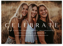 This is a white oversized graduation card by Kasia Labocki called Celebration with standard printing on signature in grand.