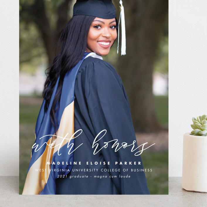 """""""Honored"""" - Grand Graduation Cards in Paper by Lea Delaveris."""