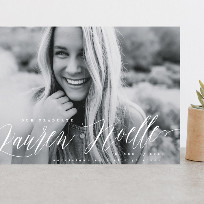 """""""Eponym"""" - Grand Graduation Cards in Pearl by Everett Paper Goods."""