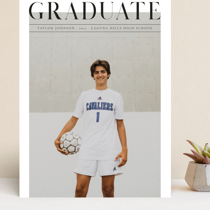 """Bold headline"" - Grand Graduation Cards in Cloud by Kann Orasie."