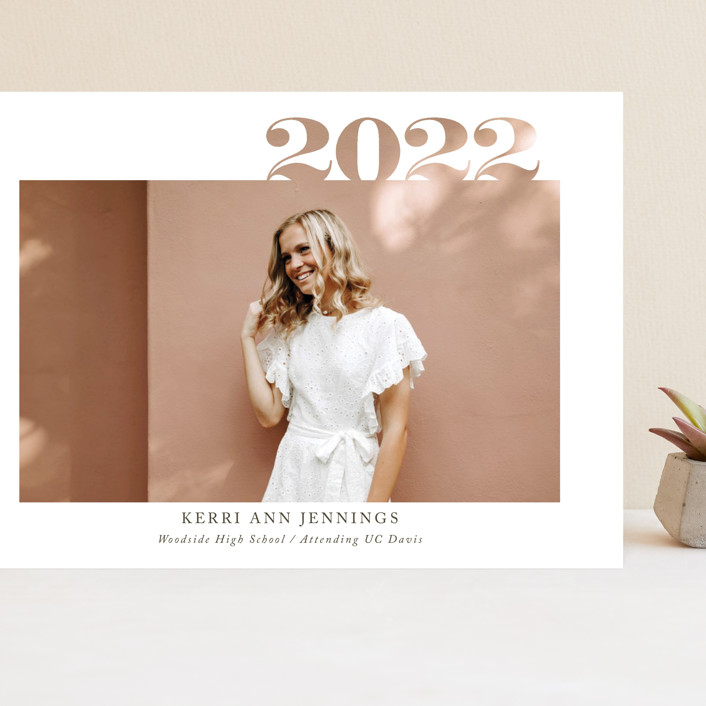"""2020 Cutout"" - Grand Graduation Cards in Ivory by Yaling Hou Suzuki."